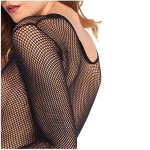 Tops - NWT Long Sleeve Small Hole Fishnet Bodysuit